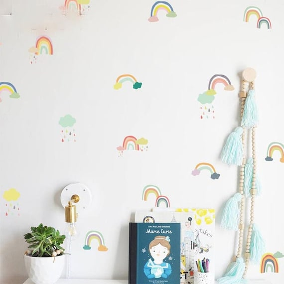 Rainbows Wall Stickers Wall Sticker Kids Nordic Decals Etsy
