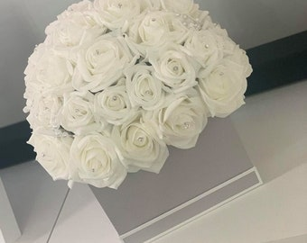 Black Symphony Lined Oasis Flower Hat Boxes Sets of 3 Floristry Art