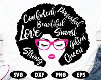 Afro Woman Svg Etsy