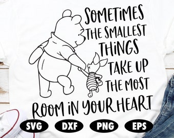 "Winnie the Pooh bookmark /""Sometimes the smallest things take up the most room/"""