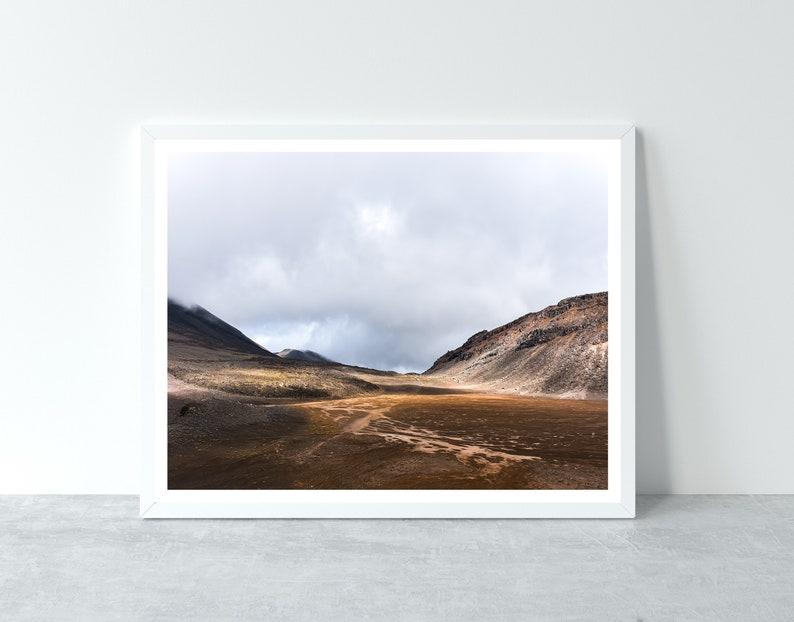 Tongariro National Park Nature Photo New Zealand Landcape Red Sand Dunes Tongariro Alpine Crossing Wilderness Digital Download Hiking