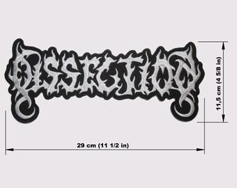 Dissection brodé à l/'arrière Patch Black Death Metal Sew On