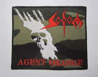 Sacrifice embroidered logo back patch thrash metal metallica annihilator voivod