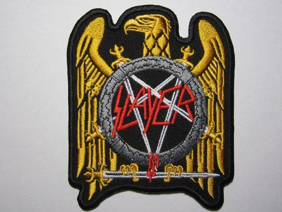 Slayer Golden Eagle Back Patch Black