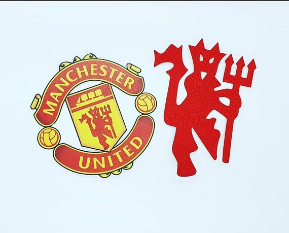manchester united fc cake toppers set of 2 etsy manchester united fc cake toppers set of 2