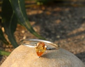 Natural Yellow Citrine Ring - 925 Sterling Silver Ring - Birthstone Citrine Ring - Gift Yellow Ring - Citrine Jewelry - November Birthstone