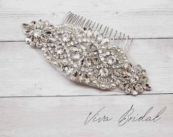 Wedding Bridal Comb, Rhinestone Comb, Bridal Comb Crystal, Wedding Crystal Hair Comb,  Vintage Crystal Comb
