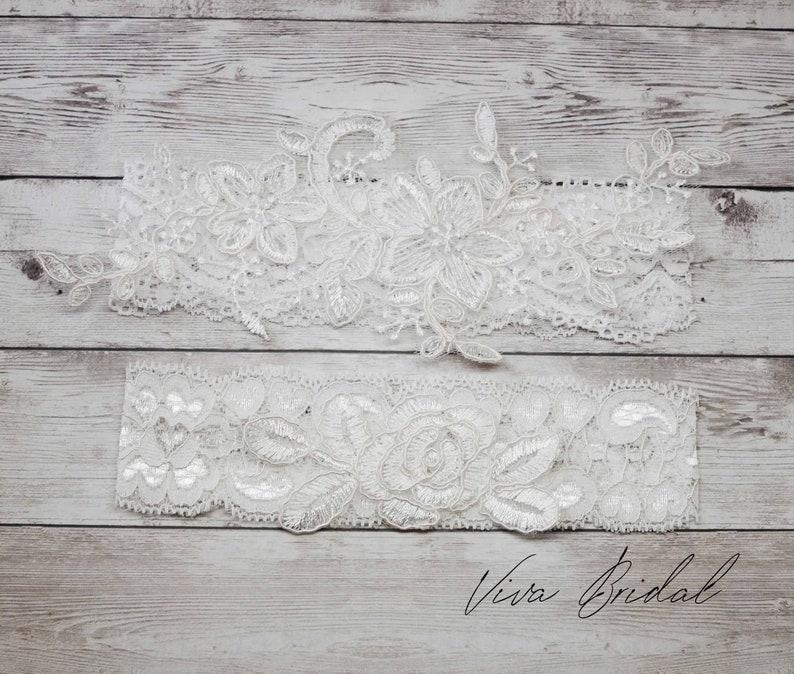 Wedding Garter and Toss Garter-White Lace Garter Set Wedding Garter Set White Wedding Garter