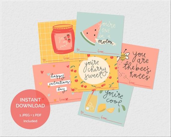 Valentine Tags  Valentines Day Cards  Kids Printable