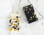 JoJo Fletcher x Etsy  Collection, Black & White Confetti Soap Duo, PREMIUM Body + Face soap set. Self care.