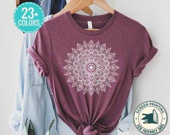 Mandala Cute Spring for Woman Mandalas Gifts Flower Shirt Pretty for her sweet t meditation yoga shirt t-shirt tshirt tees crewneck women