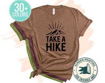 Take a Hike T-Shirt, Nature shirt, Hiking shirt, Forest Tshirt, Mountain Hiking Shirts, Take A Hike Shirt, Softstyle Unisex T-Shirt
