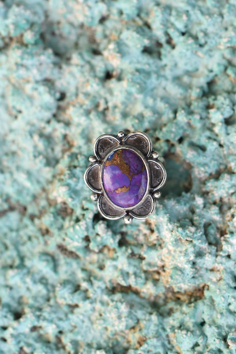 Purple Mojave ring size 7.75