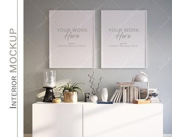 Frame mockup, Poster Mockup, Mockup in interior, Mockup Poster, Mockup, Mock, Minimalist mockup, Scandinavian interior frame mockup