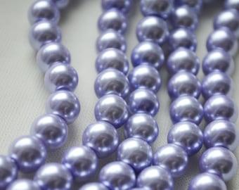 Z-7x5PT-DPRP Glass Pearl Beads 7x5mm Teardrop Dark Purple Qty 16