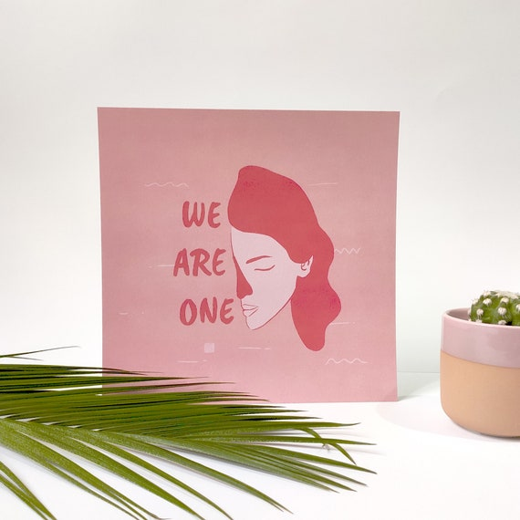 We are one - Printed Digital Illustration