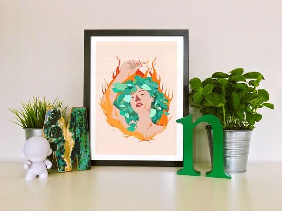 Earthfire - Printed Digital Illustration