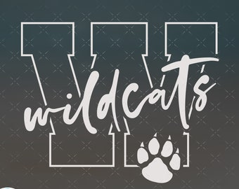 Wildcats SVG, Wildcats Football, Wildcats Baseball, Wildcats Soccer, Wildcats Basketball svg cut file for cricut, svg, png, dxf, clipart.