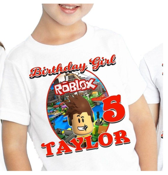Roblox Birthday T Shirt Etsy