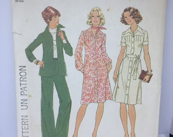 7951 Simplicity 1977 Vintage Sewing Pattern Misses Jiffy Wrap Pants or Pantskirt Size 12  Waist 26 12   Cut with Instructions