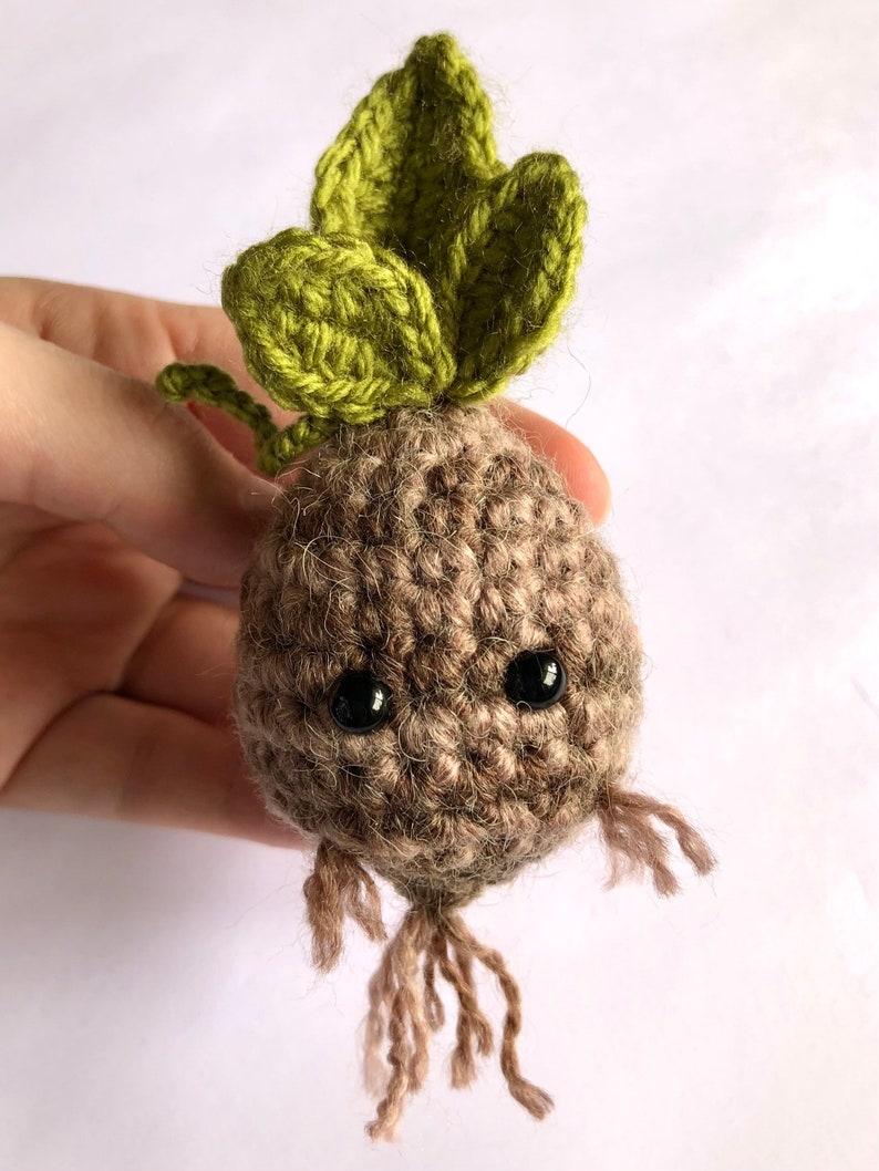 Crochet Mandrake Tiny Mandrake Sapling Mandrake Bulb Botanical Crochet Mythical Creature
