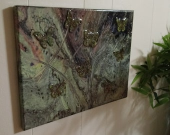High gloss butterfly acrylic cell painting for your home.