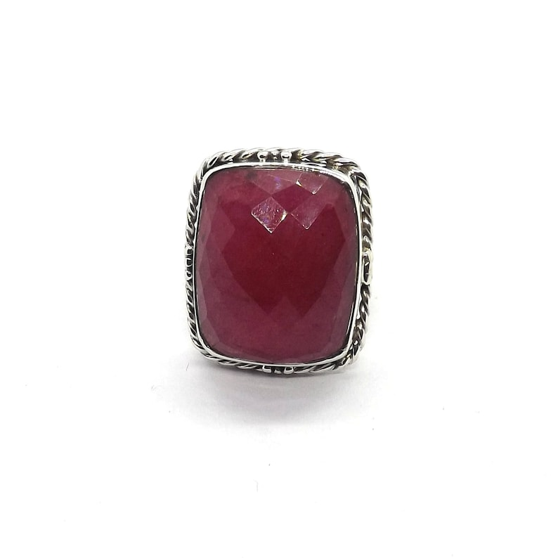 Red beryl 925 sterling silver ring,solid silver ring,Rose cut ring,Designer ring