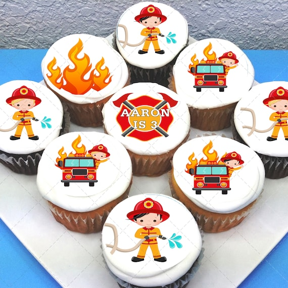 PRE-CUT Sheet of 15 Baby Boy Edible Icing Image Cupcake Toppers