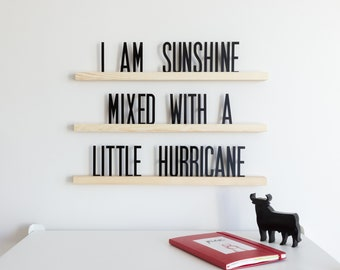 """Letter Ledges Set – Changeable Letter Board – 24"""" Statement Shelves –  189 Letters – Message Board – Home Office Cafe Playroom Wall Decor"""