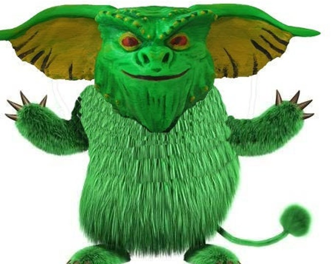 Green monster head 3d