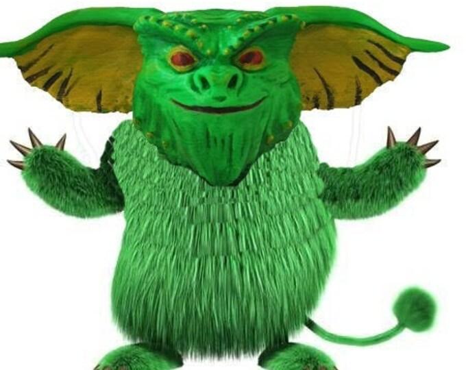 Green monster head 3d