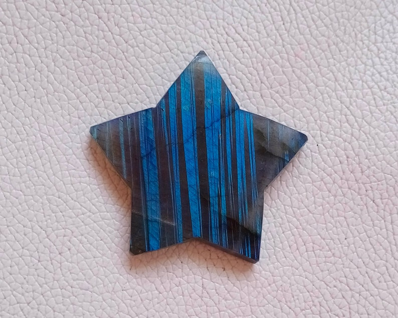 50X50 MM Labradorite Gemstone Loose Crescent Star Stone For Making Wire  Wrapped Pendant AAA Quality Labradorite Blue Fire Approx