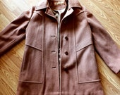 Authentic Vintage 1970s Mackintosh Wool Trench Coat Classy 70s Peacoat