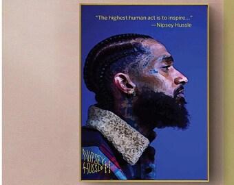 Nipsey Hussle Key Chain Lanyard limited edition music art rap los angeles new