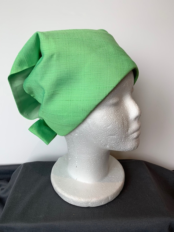 1960's Mod Hat - Lime Green