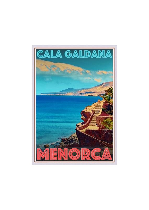 Art Deco Travel Posters Lovely Vintage Retro Tourism Menorca Cala Galdana