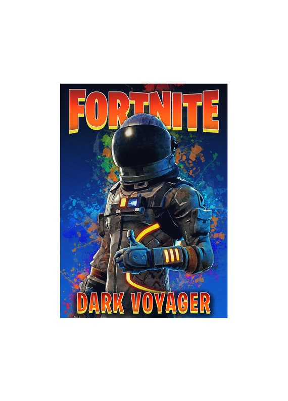 Dark Voyager Battle Royal Unofficial Glossy Game Posters Wall Art Fortnite