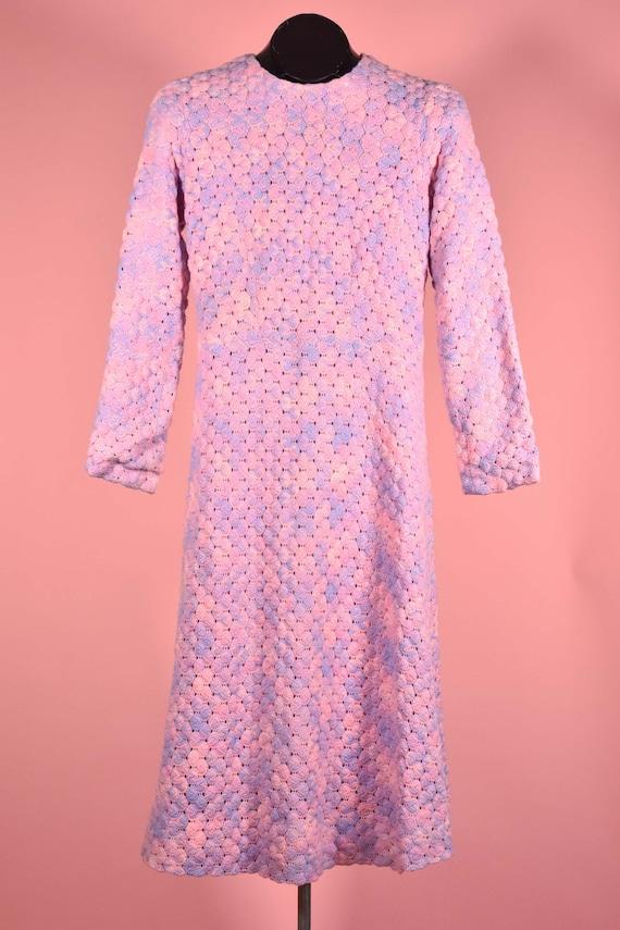 Vintage Handmade 1970s Bubblegum Pink and Lavender