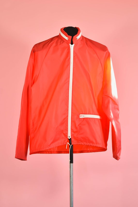 1970s Budweiser Jacket Logo Windbreaker Allover Print Zip Front Button Collar Unisex Nylon Lightweight size Men/'s Large Women/'s XL chest 46