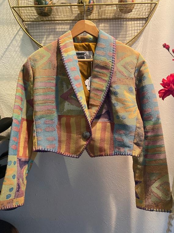 Rhonda Stark Aztec Print Jacket