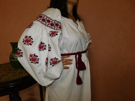 Ukrainian traditional red vyshyvanka vintage| ukr… - image 3