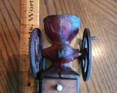 Vintage Toy Cast Iron Coffee Grinder with Original Red Paint