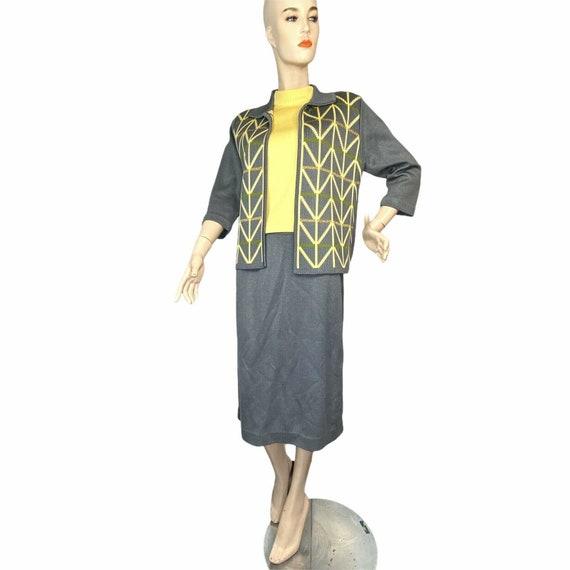 Vintage Mod 50's 3 Piece Knit Wear Suit Set, Tank,