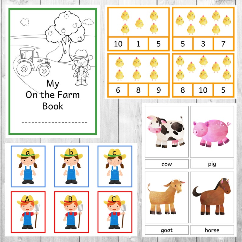 On the Farm Playful Learning Pack  numbers letters image 0