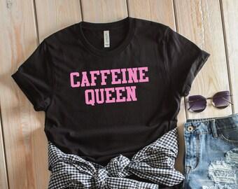 Caféine chargement Femmes T-shirt Café Expresso Latte Rétro Drôle Cadeau Anniversaire