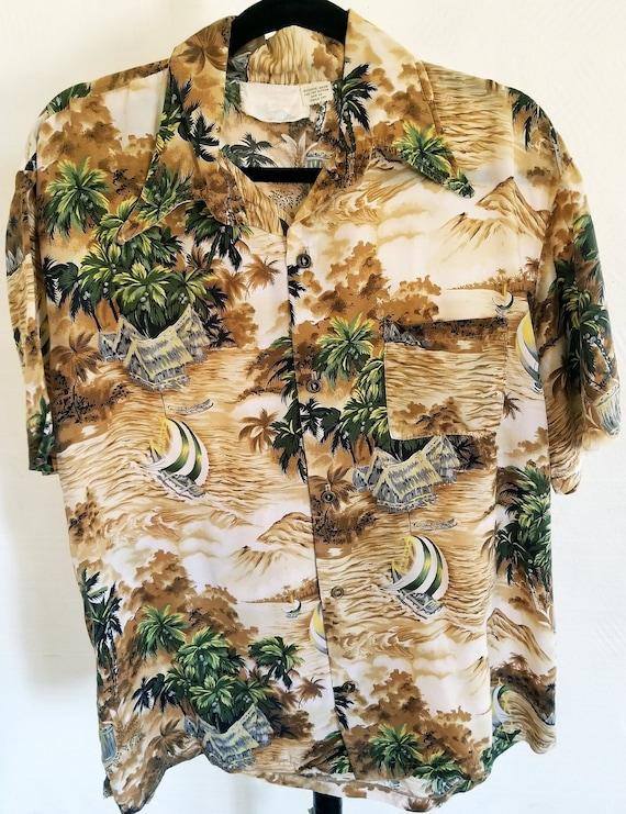 Rare Vintage 70's Aloha-Loni Fashions Hawaiian Shi