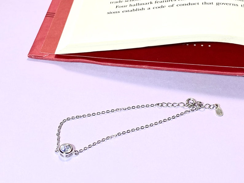 Shine Bright Like A Diamond Silver Bracelet Gift For Her Classy Bracelet 925 Sterling Silver Diamond Bracelet