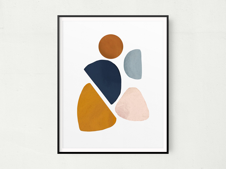 lilac prints minimalist wall art abstract shapes wall art