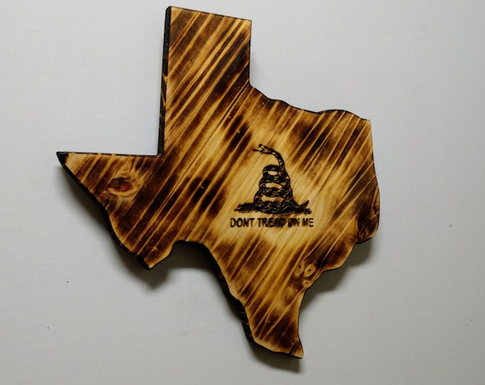 "Texas ""Don't Tread On Me"" Wall Decor/Wall Hanging/Rustic Wall Art/Texas Home Decor/Man cave/Garage Decor/Made in Texas/FREE SHIPPING"