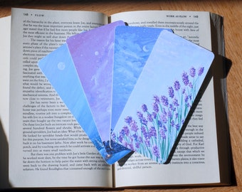 Set of 4 Bookmarks Landscape Prints